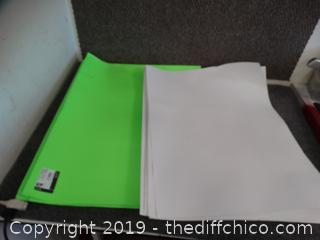 Green & White Poster Boards