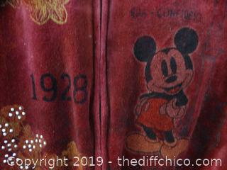 Disney Zip Up Sweatshirt small