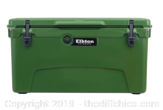 Elkton Outdoors 75 Quart Ice Chest With Bottle Opener, Drain Plug & Freezer Gasket Seal (J1)