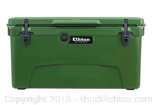 Elkton Outdoors 75 Quart Ice Chest With Bottle Opener, Drain Plug & Freezer Gasket Seal (J1)