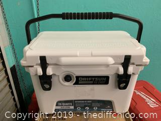 Driftsun 20 Quart Performance Ice Chest - Insulated Rotomolded Cooler White (J2)