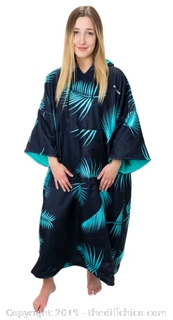 Driftsun Surf Poncho, Privacy Changing Robe - Teal Palm (J20)