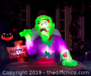 Holidayana 5 ft Resurrected Graveyard Zombie Halloween Inflatable (J23)