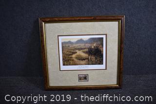 Framed Signed Number Print w/Stamp