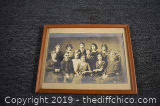 Framed Vintage Photograph