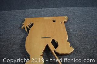 Hand Crafted Signed Wood Art