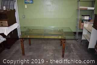 Table w/3/4in Glass Top plus 6 Chairs