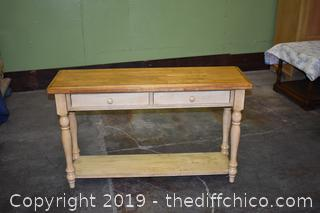Sofa / Entry Table w/2 Drawers
