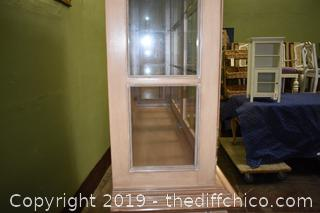 2 Piece Hutch w/6 Drawers and 2 Glass Shelves