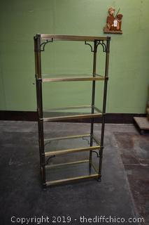 Display Rack w/5 Glass Shelves