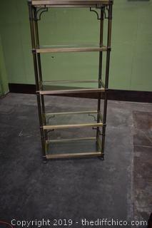 Display Rack w/5 Glass Shelves
