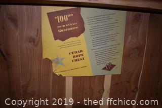 Cedar Chest w/Key