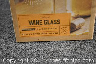NIB Extra Large Wine Glass