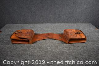 Leather Hand Carved Saddle Bags