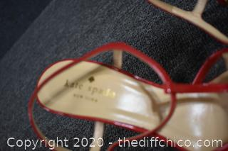 Kate Spade Red Heels Size 7 1/2