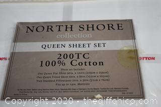 New Queen Sheet Set