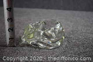 Glass Cat Candle Holder