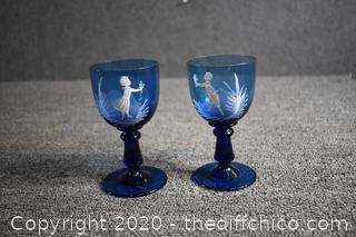 Cobalt Blue His / Her Glasses