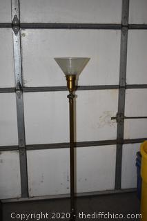 Untested Vintage Pole Lamp w/Shade