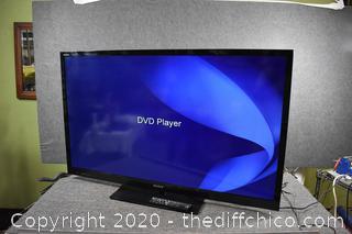 55in Sony Bravia TV w/Remote