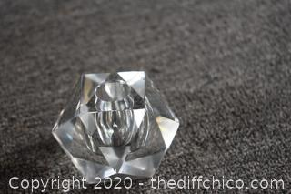Glass Candle Holder / Paperweight