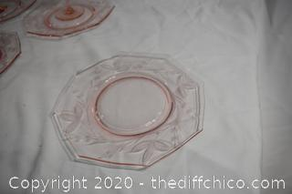 14 Pieces of Pink Glassware
