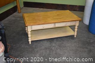 Coffee Table w/2 Drawers