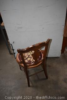 Victorian Needlepoint Seat Chair