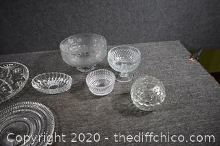7 Pieces of Glassware