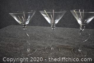 4 Margarita / Martini Glasses