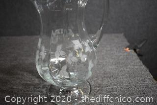 Etched Pitcher