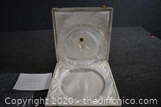 Collectible Cristal d'Albret Pax Peace Plate