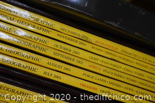 Collection of National Geographic Books - cart not included