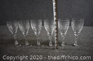 6 Crystal Glasses