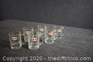 6 Collectible A & W Root Beet Glass Mugs
