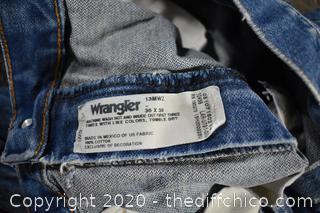 Wranglers size 36 x 38