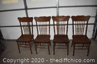 Set of 4 Pressback Chairs