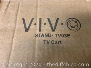 Vivo Black Mobile TV Cart (J35)
