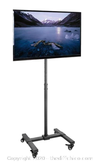 Vivo Black Mobile TV Cart (J44)
