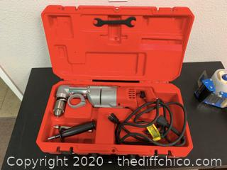 Milwaukee 7 Amp Corded 1/2 in. Corded Right-Angle Drill Kit with Hard Case (J53)