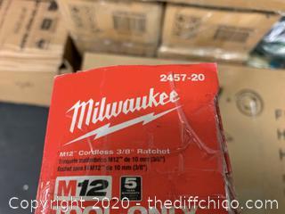 Milwaukee M12 12-Volt Lithium-Ion Cordless 3/8 in. Ratchet (J68)