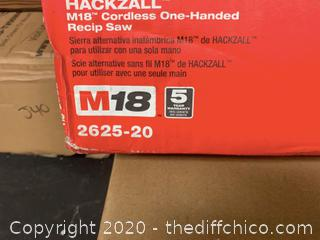Milwaukee M18 18-Volt Lithium-Ion Cordless Hackzall Reciprocating Saw (J74)