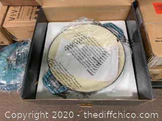 Zelancio 3 Quart Enameled Cast Iron Casserole Dish with Lid - Teal (J97)