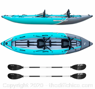 Driftsun Rover 220 Inflatable Two Person Whitewater Kayak (J113)
