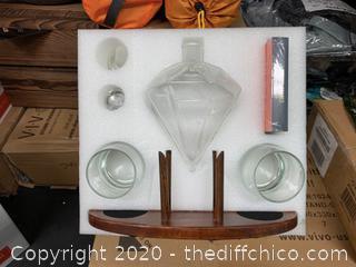 Atterstone Diamond Decanter Set (J125)