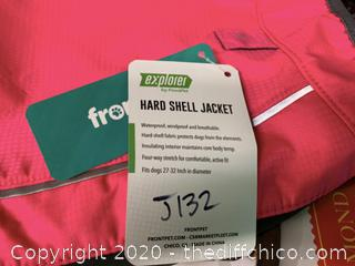 FrontPet Ultra Light Hard Shell Dog Jacket - Pink - Large (J132)