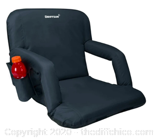 Driftsun Folding Stadium Seat - Black - Pack of 2 (J163)