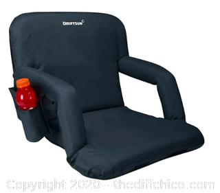 Driftsun Folding Stadium Seat - Black - Pack of 2 (J166)