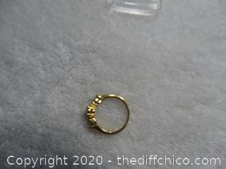 Ring With Stones Size 7