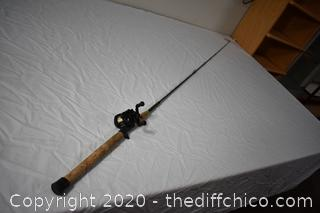 90in long RetrOflex Fishing Pole and Shimano Reel